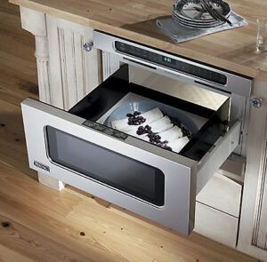 Microwave in drawer